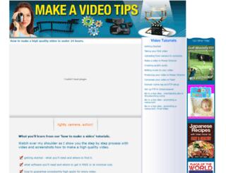 makeavideotips.com screenshot
