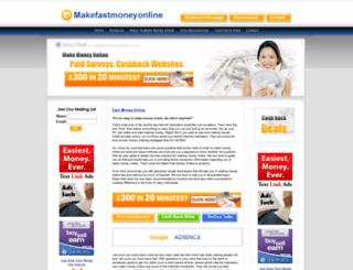 makefastmoneyonline.co.uk screenshot