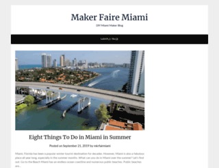 makerfairemiami.com screenshot