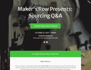 makersrowtownhallqa.splashthat.com screenshot
