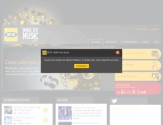 makethemusic.cm screenshot