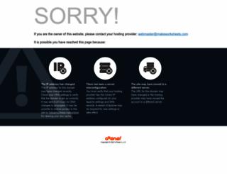 makeworksheets.com screenshot