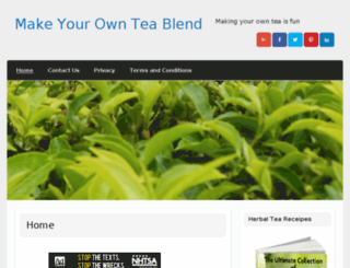 makeyourownteablend.com screenshot