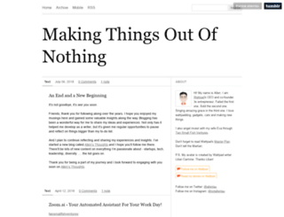makingthingsoutofnothing.com screenshot
