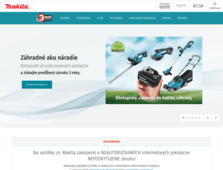 makita.sk screenshot