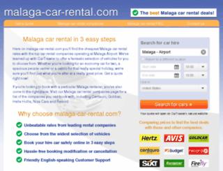 malaga-car-rental.com screenshot