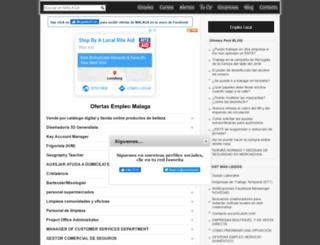 malaga.sucurriculum.com screenshot