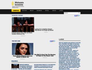 malaysia-chronicle.com screenshot