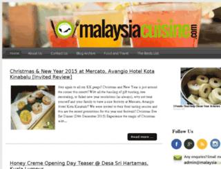 malaysiacuisine.com screenshot
