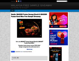 malaysiafreesamplegiveaway.blogspot.com screenshot