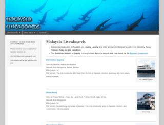 malaysialiveaboards.com screenshot