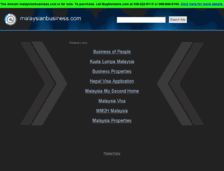malaysianbusiness.com screenshot