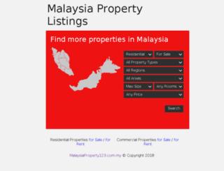 malaysiaproperty123.com.my screenshot