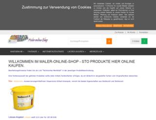 maler-online-shop.de screenshot