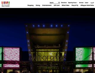 mallofqatar.com.qa screenshot