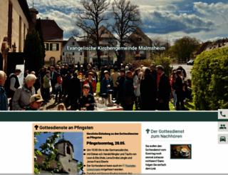 malmsheim-evangelisch.de screenshot