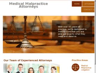 malpracticelegalfirm.com screenshot