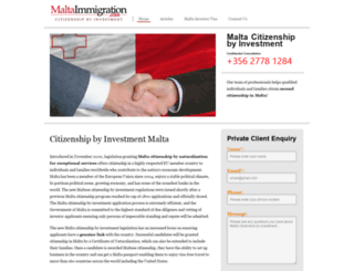 maltaimmigration.com screenshot