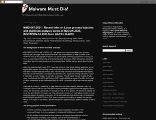 malwaremustdie.blogspot.com screenshot