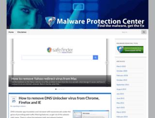 malwareprotectioncenter.com screenshot