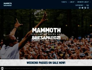 mammothbluesbrewsfest.com screenshot