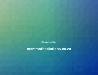 mammothsolutions.co.za screenshot