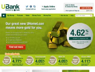 manage2.ubank.com.au screenshot