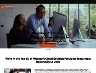 managedsolution.com screenshot