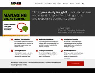 managingonlineforums.com screenshot