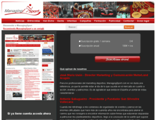 managingsport.com screenshot