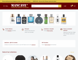 mancave.co.nz screenshot