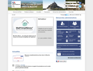 manche.gouv.fr screenshot
