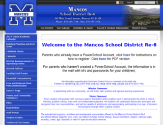mancos.schoolfusion.us screenshot