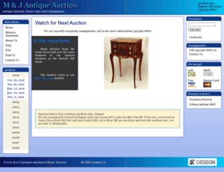 mandjauction.com screenshot