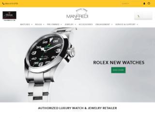manfredijewels.com screenshot