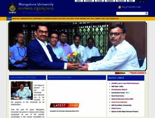 mangaloreuniversity.ac.in screenshot