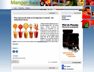 mangersain.wordpress.com screenshot