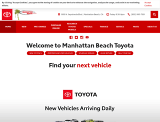 manhattanbeachtoyota.com screenshot