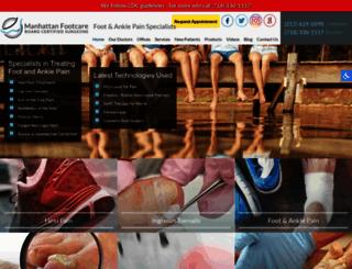 manhattanfootcare.com screenshot
