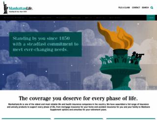 manhattanlife.com screenshot