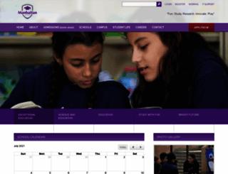 manhattanschools-eg.com screenshot