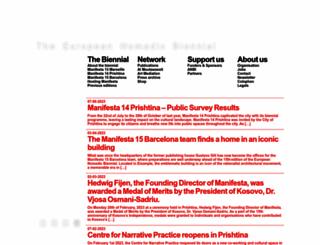 manifesta.org screenshot