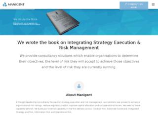 manigent.azurewebsites.net screenshot