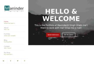 maninderjitsingh.com screenshot