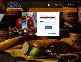 mannaorganicbakery.com screenshot