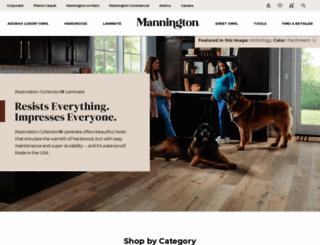 mannington.com screenshot