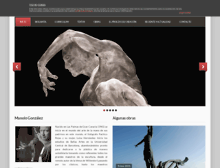 manologonzalezescultor.com screenshot