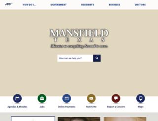 mansfield-tx.gov screenshot
