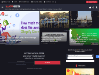 mansugirish.com screenshot