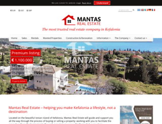 mantasrealestate.com screenshot